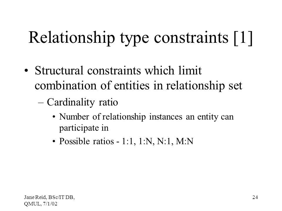 Relationship type constraints [1]